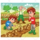 Farm illustration - country vector - color vectors