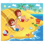 Holiday vector, color illustration, beach vectors