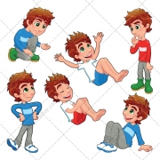 Boy vector, color boy illustration, people vector