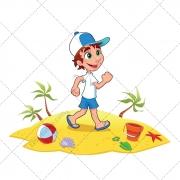 Holiday illustration, beach vector, color vectors