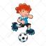 soccer vector, player, boy, cartoon, shoes, sport, ball