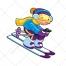 ski vector, skies, people, sport, jacket, clothing, cartoon