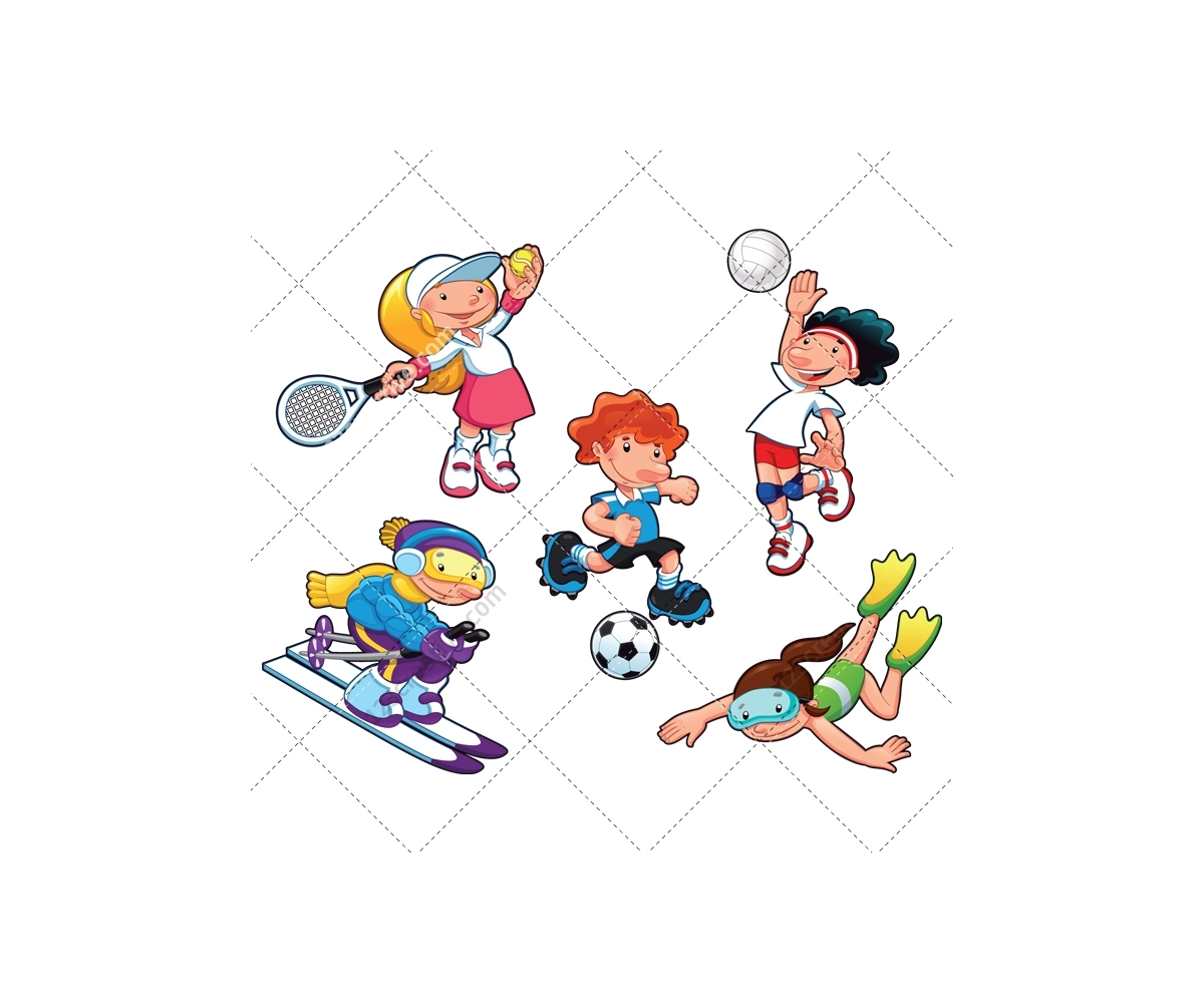 sport vector pack vectors move cartoon tennis boy soccer ski swimming player ball mouse enlarge cloth volleyball