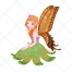 Fairy vector, vector illustration, elf, sprite, sweet