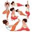 Yoga vector pack, sport vector, fitnes, pilates, training, clothing, cloth