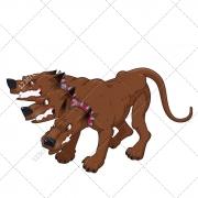 Creature vector, dog vector, cerberus, fantasy vector, mythology, ancient, monster,