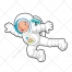 Space vector, cosmonaut, astronaut vctor, character vector, people, child illustration