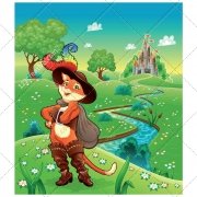 Story vector pack , fairy tale vector, landscape illustration, cartoon, color background