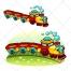 Train vector, toy train, train illustration, railway, rail vector, wagon, locomotive, engine