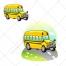 Bus vector, bus illustration, cartoon
