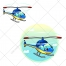 Helicopter, airplane vector, illustration, aircraft, plane vectors