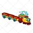 Train vector, locomotive, wagon