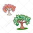 Tree vector, trees, evergreen