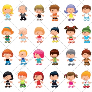 Little people vector pack 1