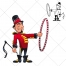 Lion tamer, artist, circus, character vector, mascot