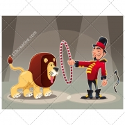 Circus illustration, circus vector, cartoon vector, child background