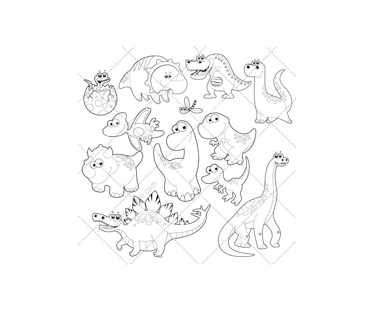 dinosaur vector pack