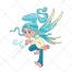 Elf vector, goblin, gnome, fairy vector, butterfly, cartoon