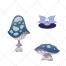 flower vector, mushroom vector