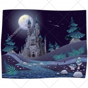 Landscape illustration, vector pack, magic, fantasy, cartoon