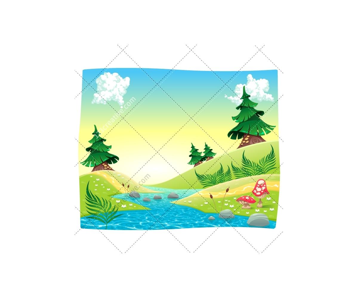 fantastic landscape illustration