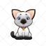 cute animal, cat vector, cartoon, kitty, kitten
