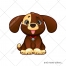 Cute animal, doggie vector, dog illustration