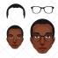 Face vector, head, portrait, eyeglasses vector