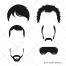 Hair vector, beard vector, sunglasses, vector component