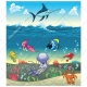 Sea vector pack, color, cartoon illustration, nature, natural, seabed, animals