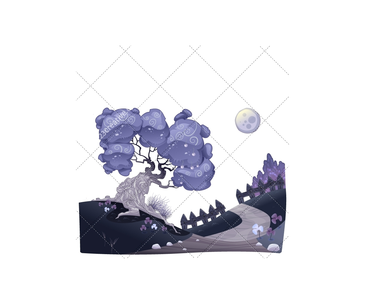 Landscape Illustration Vector Free: Royalty Free Night Illustration