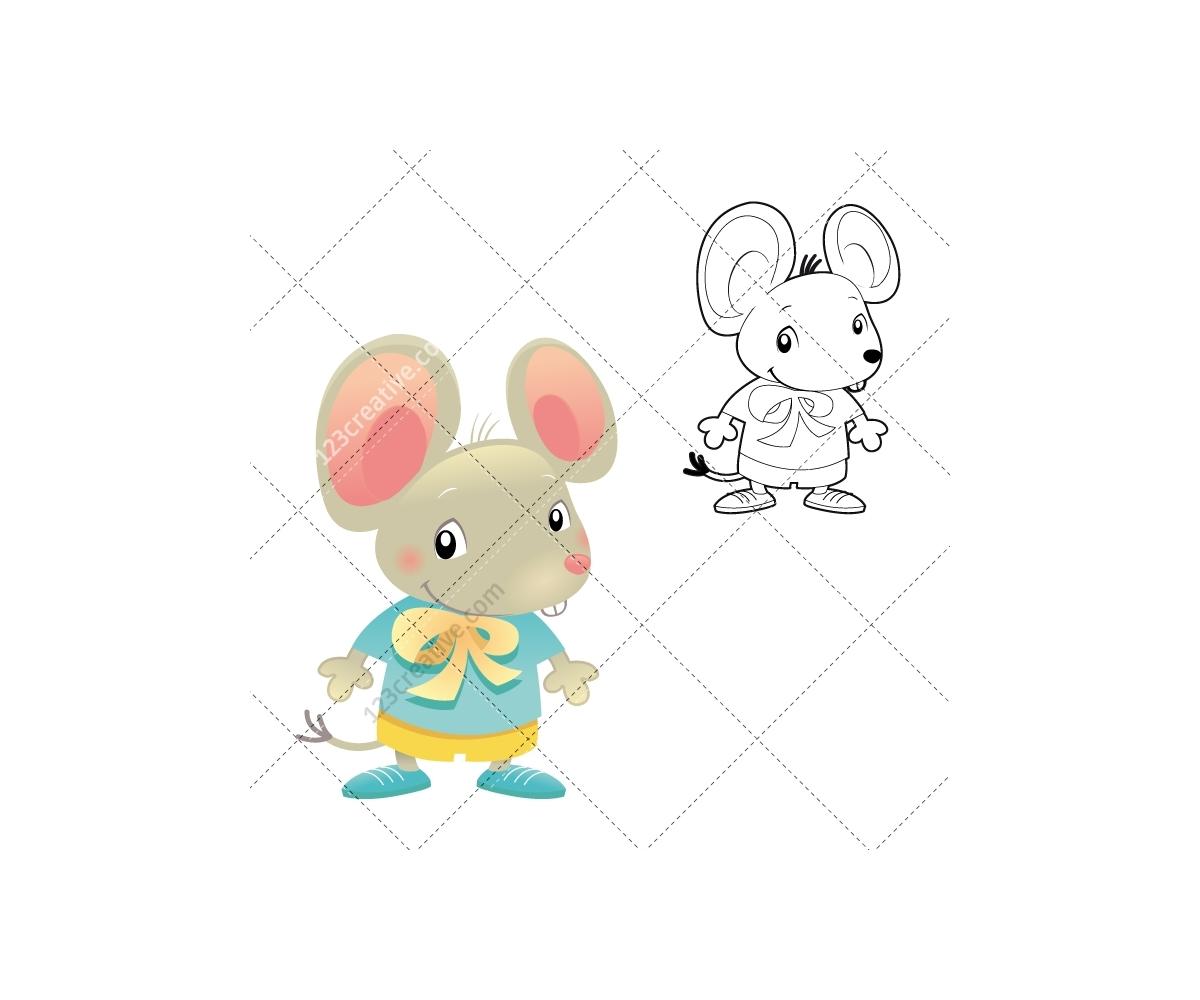 cartoon illustrations with cute cartoon animals vector and air