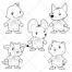 Animals vector, cartoon, fairy-tale, pet vector, cub