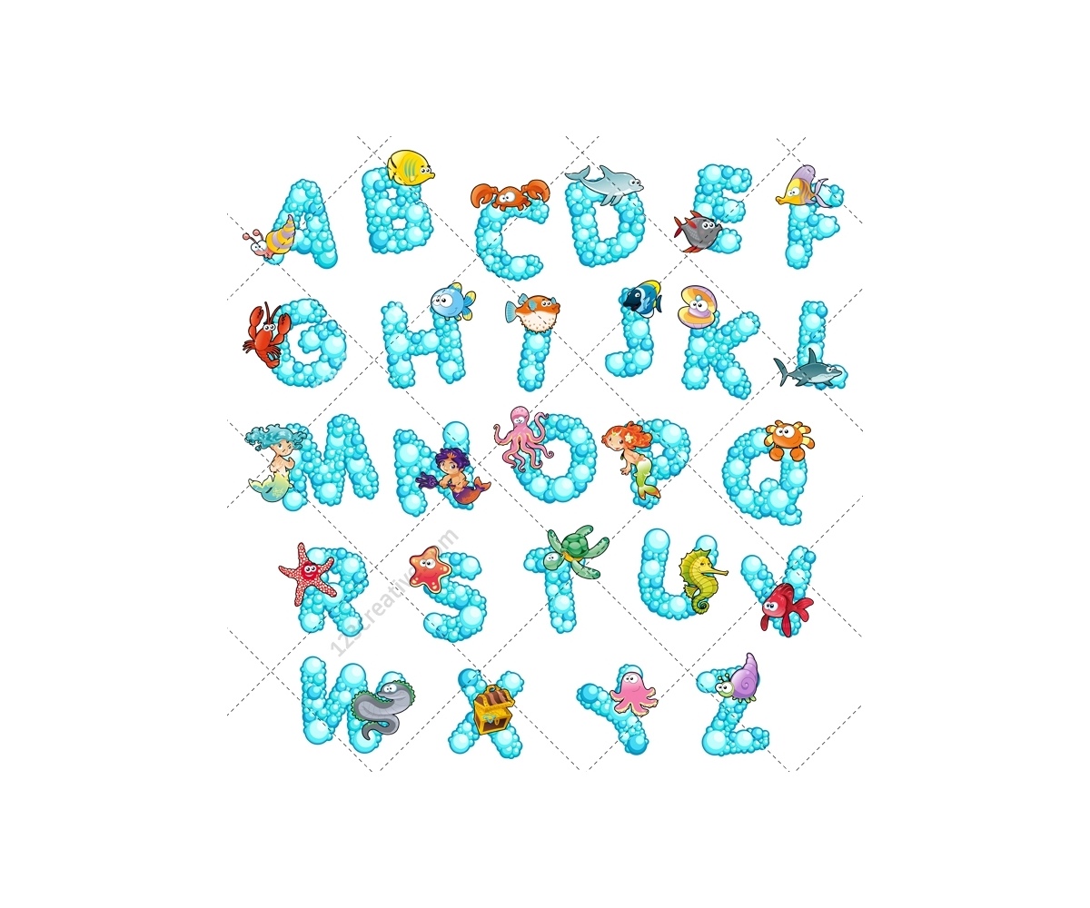 Font Vector Letter Capital Type Abc Alphabet Animal