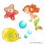 Bubble vector, fish vector, starfish vector, mermaid vector, little mermaid