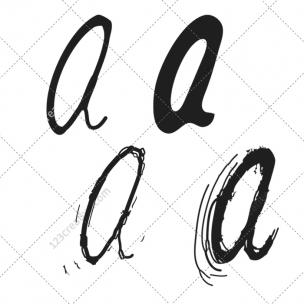 Alphabet letters vector pack
