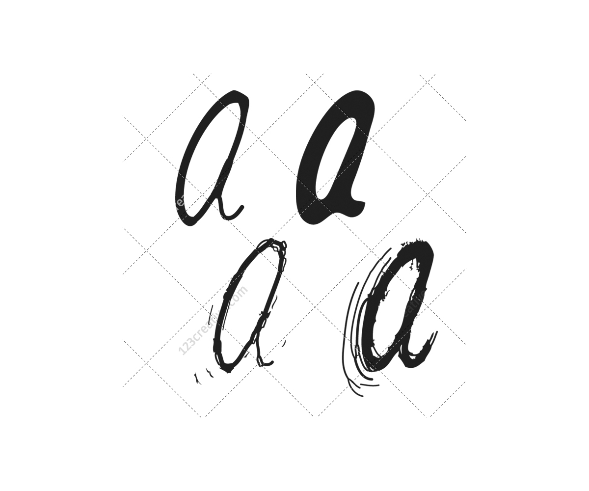 Font Vector Pack  Commercial Use Vectors Alphabet Abc Letter