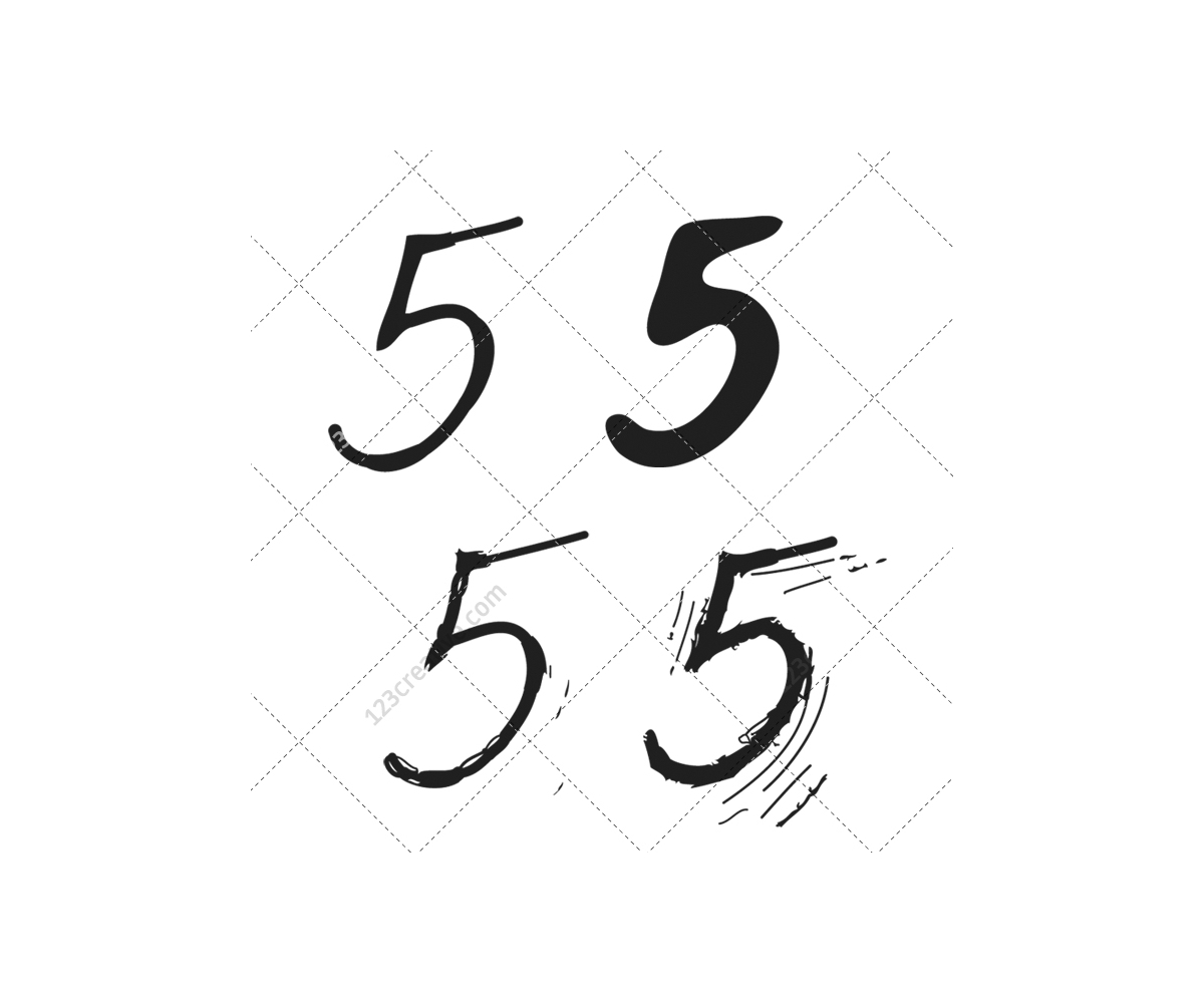 Numbers Thin Font