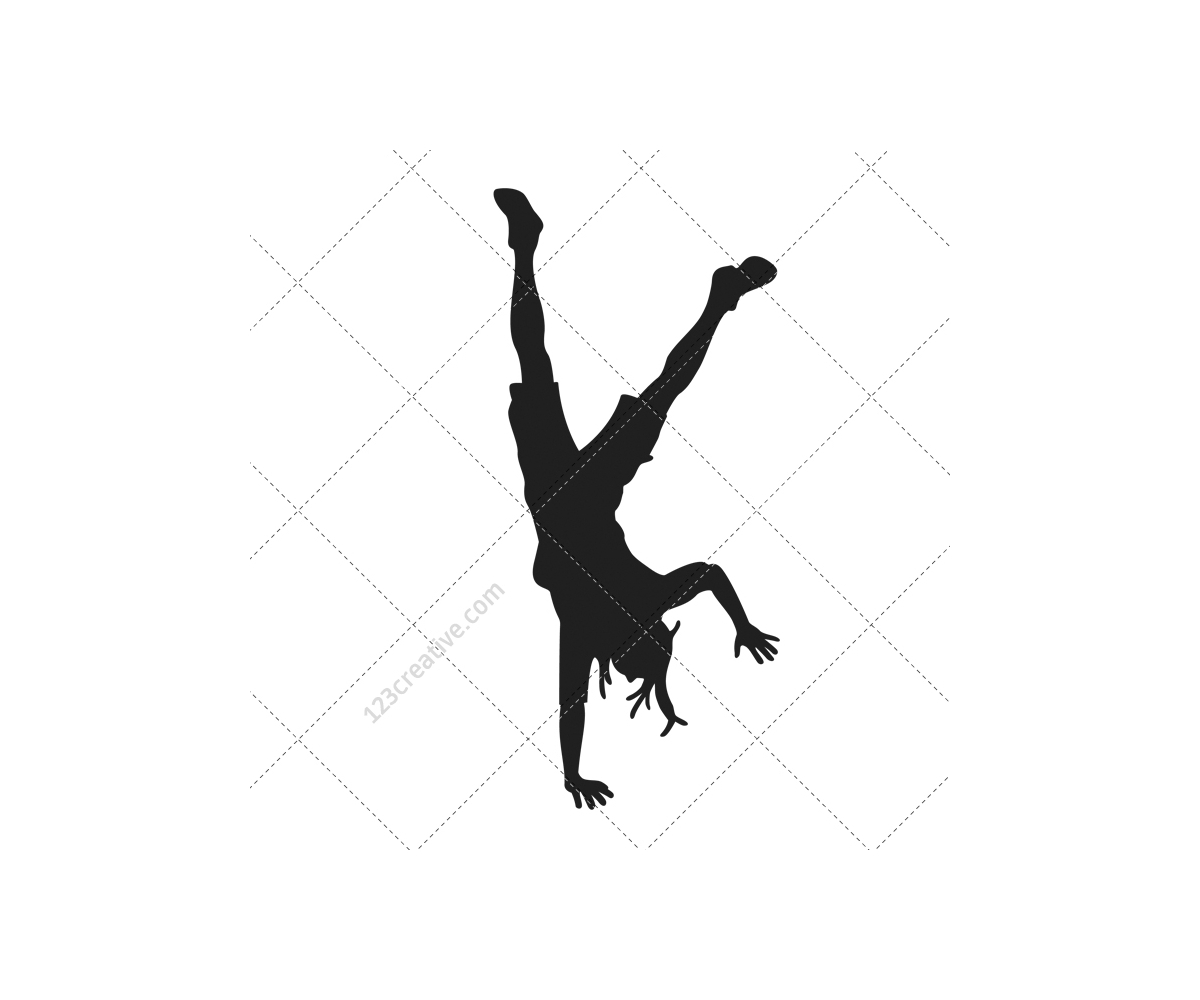 Breakdance silhouettes vector pack - royalty free hip hop ...