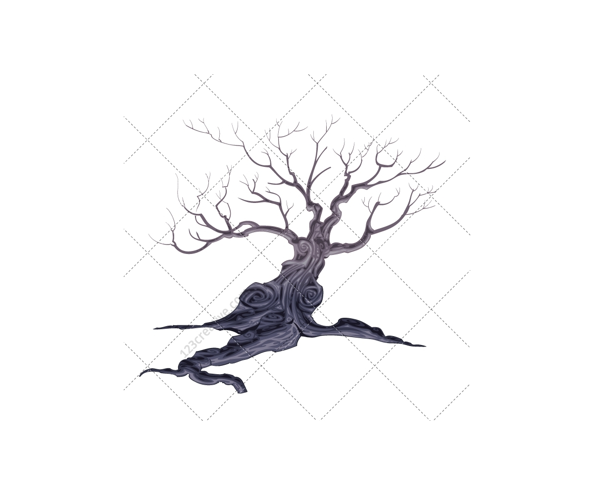 Cemetery Illustration Vector Scary Background Cemetery