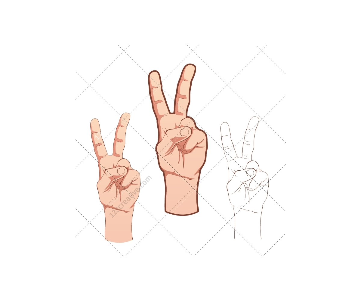 hand vector pack various hand pose pointing finger gesture