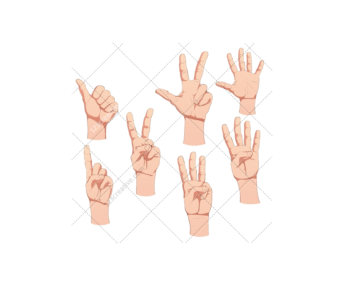 Various Hand Pose, Pointing Finger