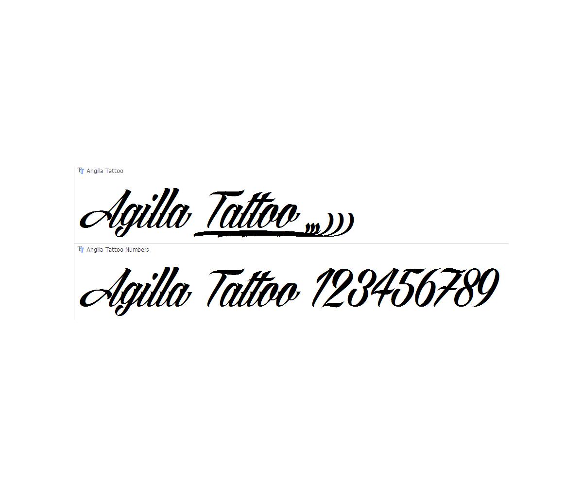 Calligraphy font agilla tattoo slated cursive italic Calligraphy scripts