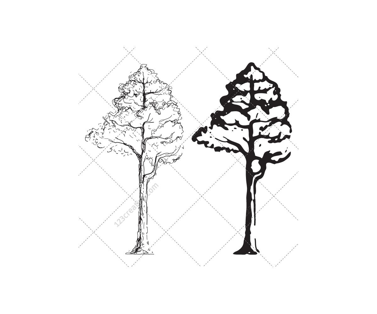 Drawing Tree Vectors (tree