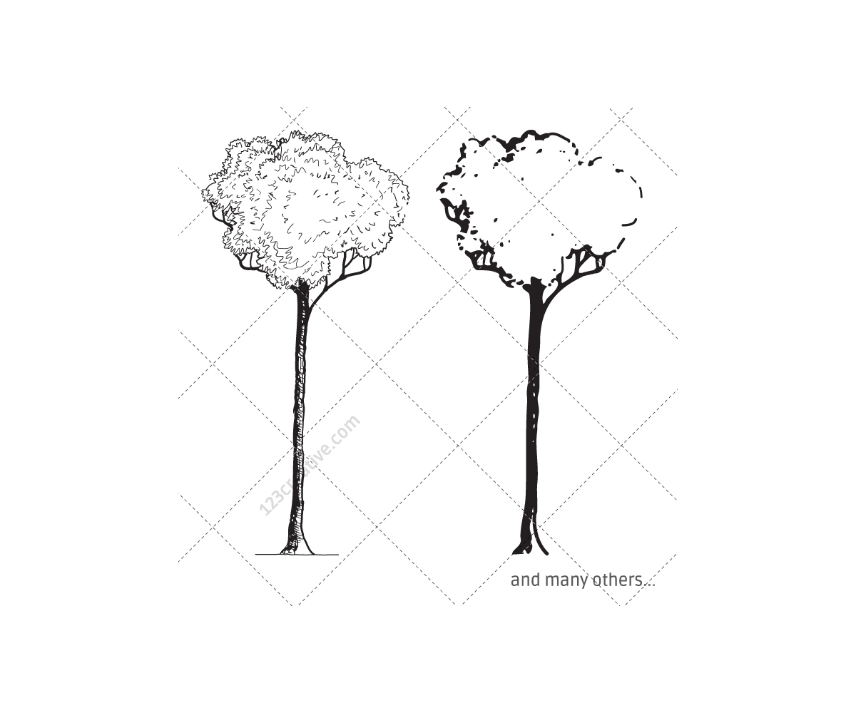 sketch tree vector pack
