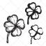 sketch clover vector, four leaf clover vector, cloverleaf vector