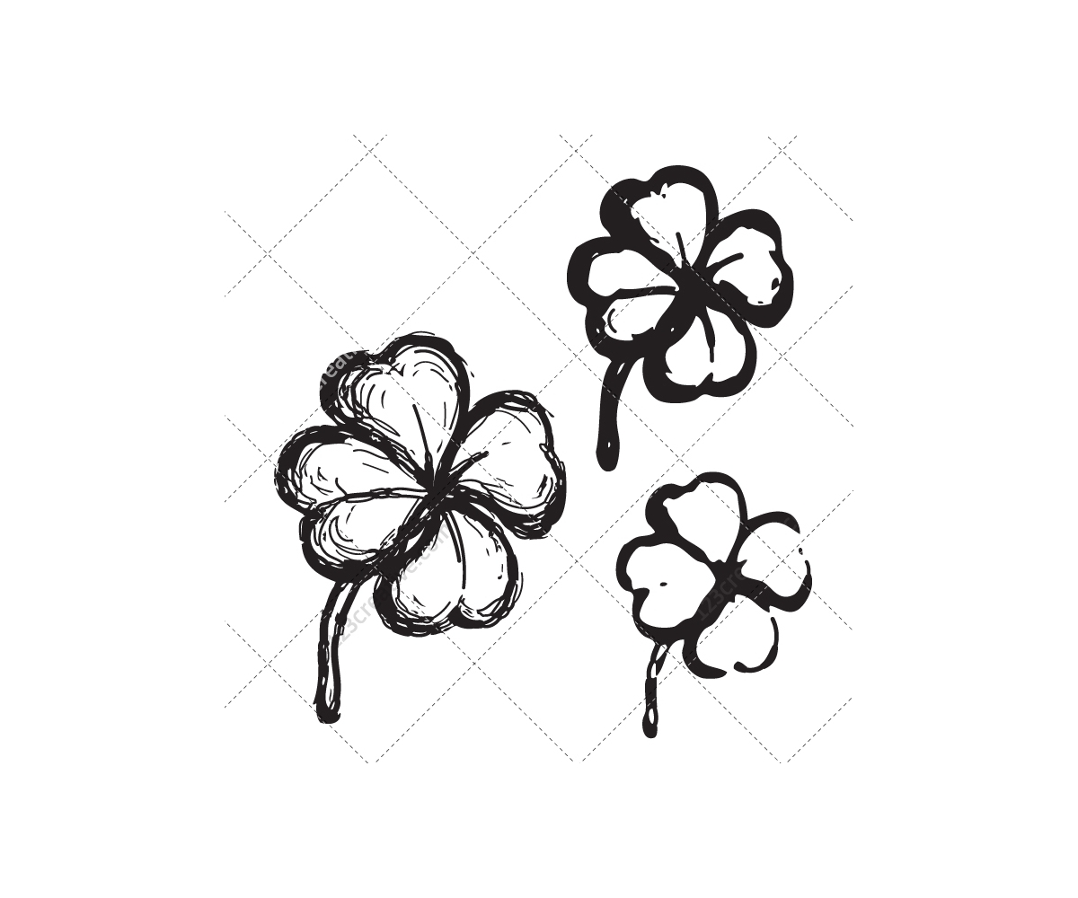 drawing leaf vector sketch clover vector four leaf clover vector cloverleaf vector