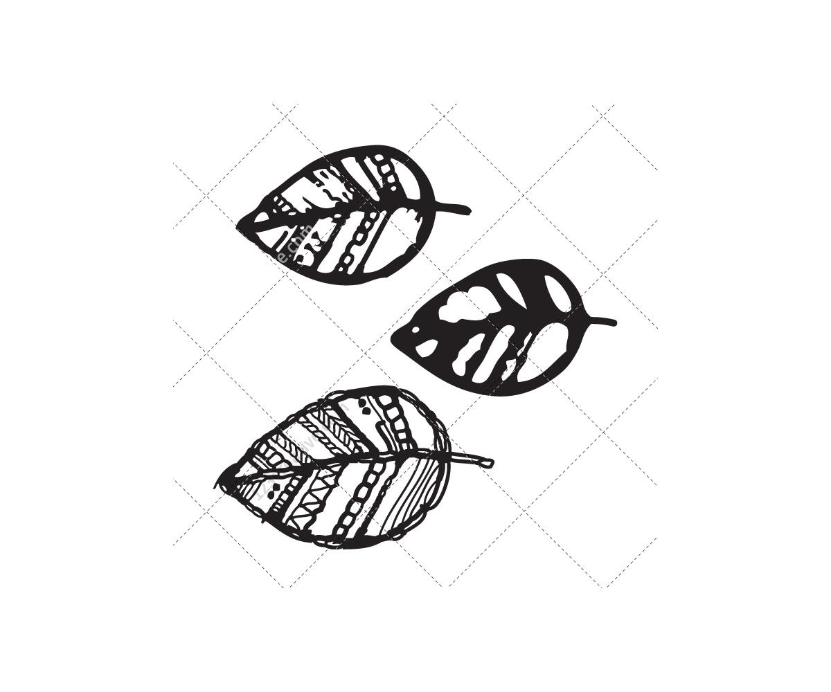 Drawing Leaf Vectors (tree Leafs