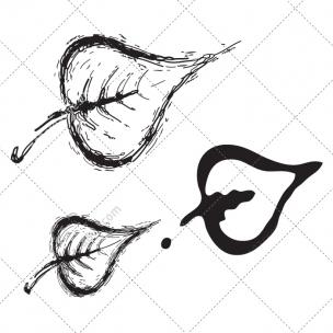 Sketch leaf vector pack