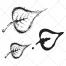 sketch leaf vector pack, linden leaf vector, leafs vector art